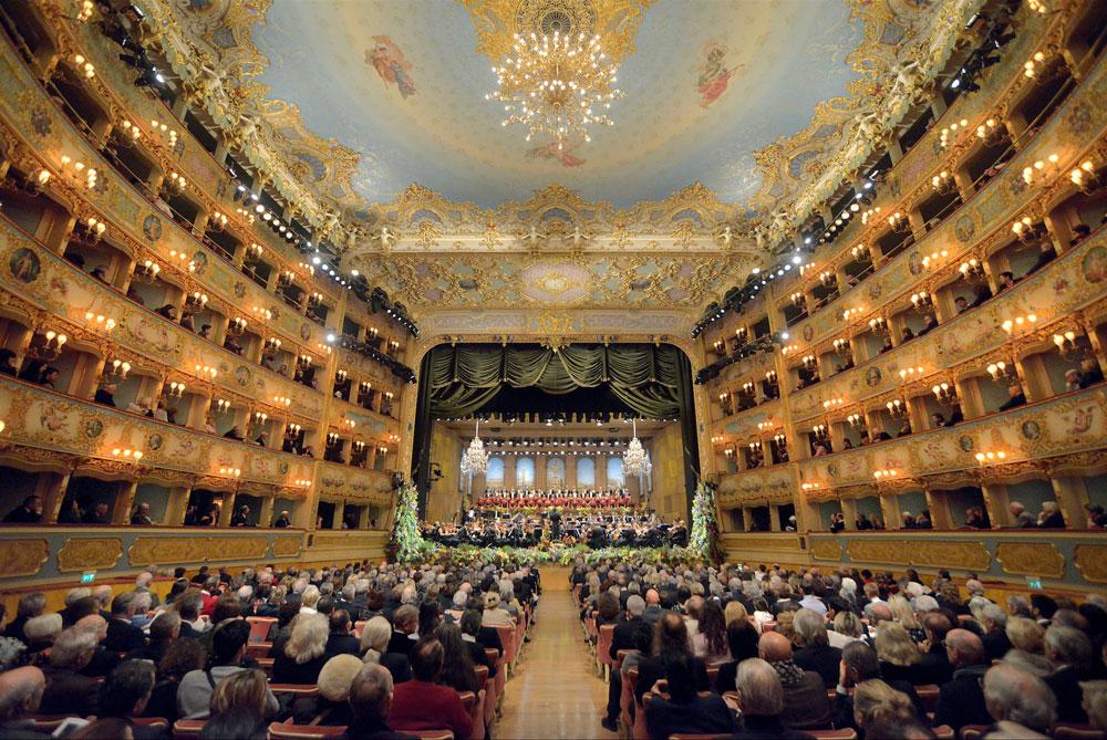 The Gran Teatro La Fenice in Venice
